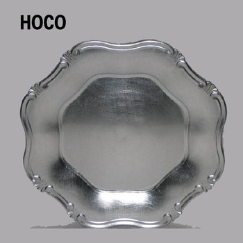 Disposable Wedding Decorative Plastic Silver Charger Plates & Disposable Wedding Decorative Plastic Silver Charger Plates - Buy ...