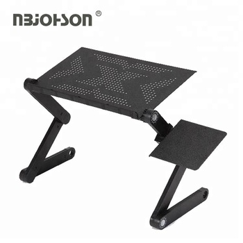 Aluminum alloy smart design portable adjustable folding bed laptop table for laptop