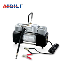 Lowest price micro battery operated double cylinder 12v football inflator car tire pump air compressor
