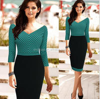 Z53525B Ladies'fashion dress/career/professional dresses