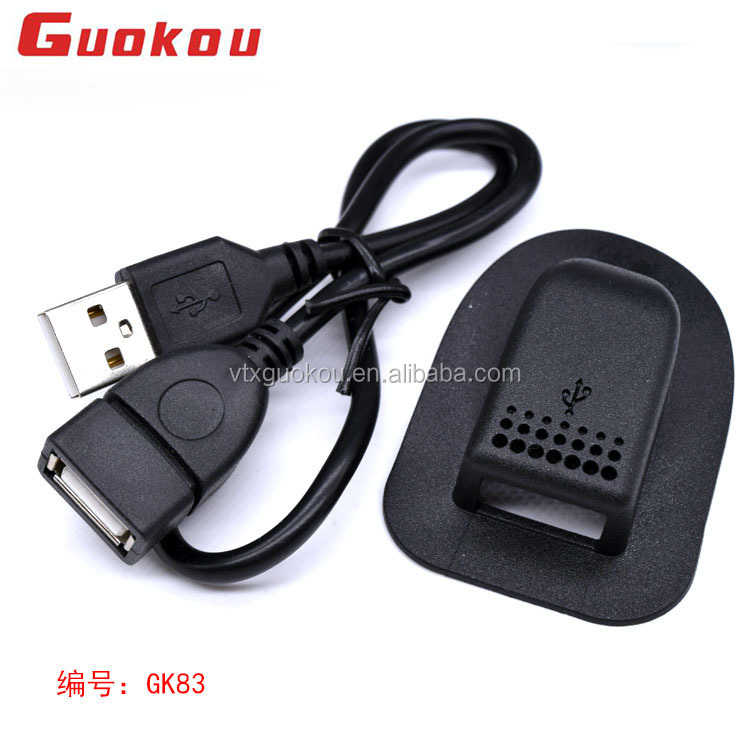 2018 Factory directly supply plastic PVC external USB charging dual port interface cable backpack accessories