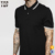China fabrikant mannen slim fit twin getipt polo shirt 100% katoen custom
