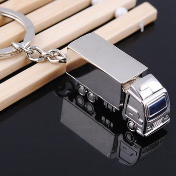 Wholesale 3D truck mold metal key chains/3D Truck keychains