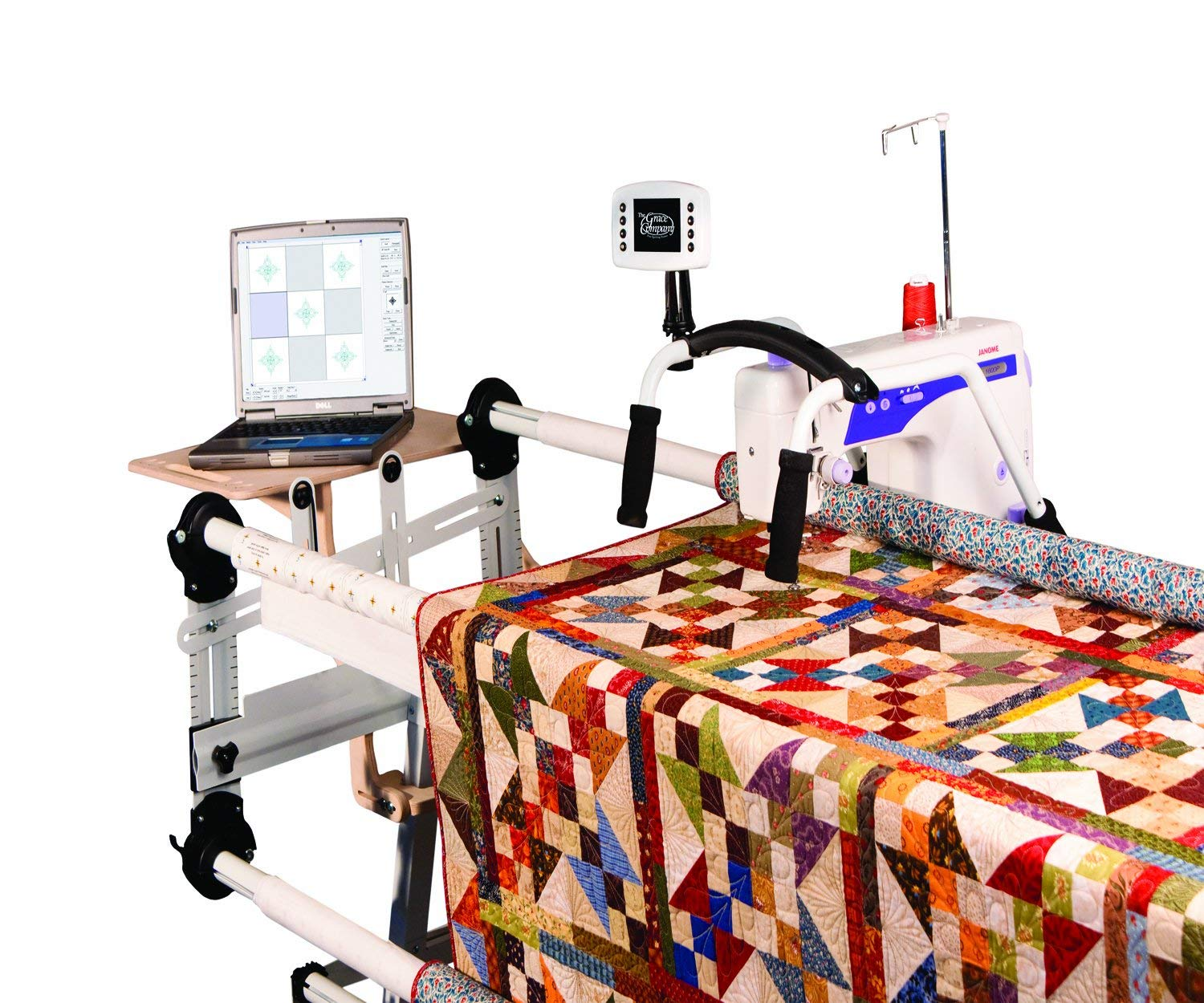 Grace QuiltMotion Professional Computer Automated Quilting System Compatible For Sewing Machine: Viking Mega Quilter 18-8