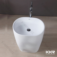 movable solid surface wash basin for hand washing