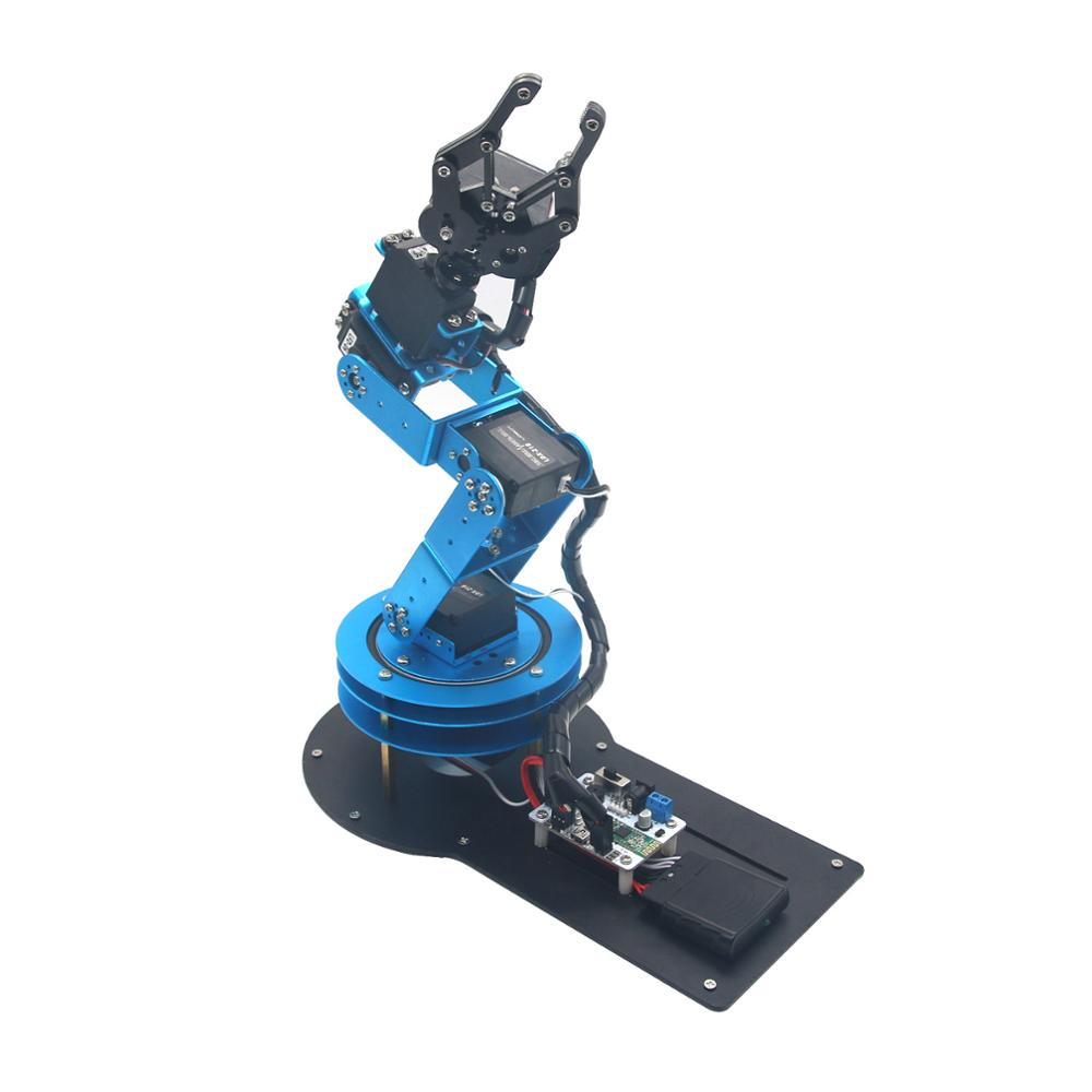 Unassembled 6dof Mechanical Robotic Arm With 6pcs Digital Servo And Ps2  Handle Control - Buy Robotic Arm,Mechanical Arm,Digital Servo Product on