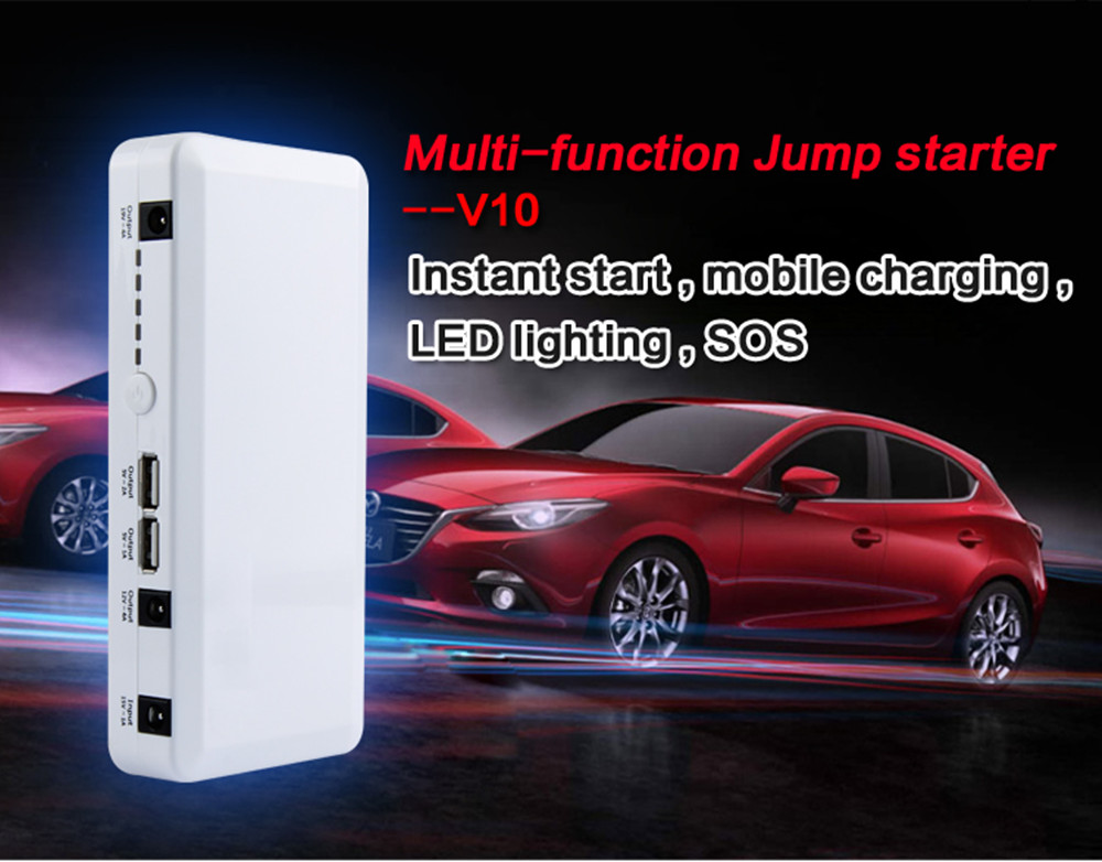 Car jump starter 5 in 1 mult-funtion emergency power bank portable battery car jump starter 12/24v