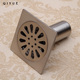 Toilet & bathroom 4'' square floor drain stainless steel cover, ss 304 shower drainer