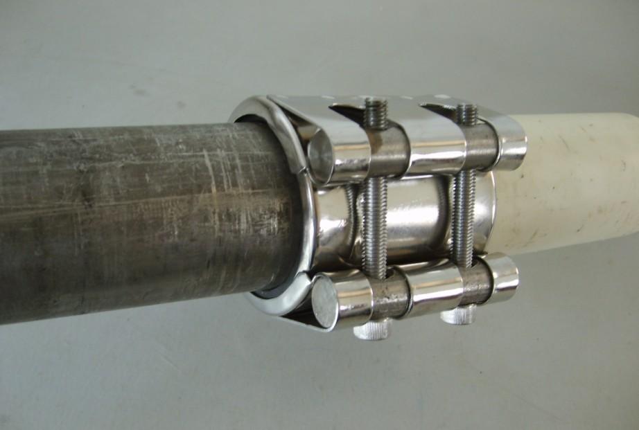 Hrc oil and gas pipeline leak repair clamp joint