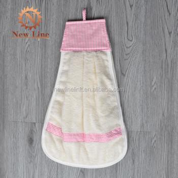 100 Cotton Loop Hanging Kitchen Hand Towel With Ties Buy Kitchen