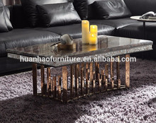 modern furniture guangzhou high gloss square gold coffee table legs book