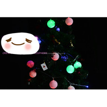 LED Romantic Cotton Ball Gorgeous Creative String Light Ivory White Party Christmas Tree Decor Decoration