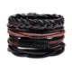 Unisex Gender Vintage Wax Ropes & Leather Braided Adjustable Sizes Wrap Bracelets & Bangles
