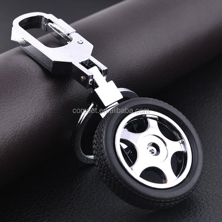 Revolving Keychain Tire Rotation Car Logo Keychain High Grade Key