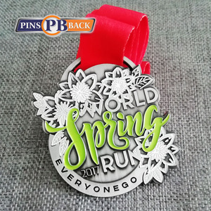 PINSBACK Customized Event Sport Medal with double printing ribbons , Running metal medal , NO MOQ