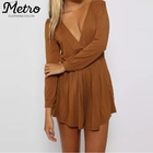 fashion new suede fabric women's casual playsuits Brand Clothing