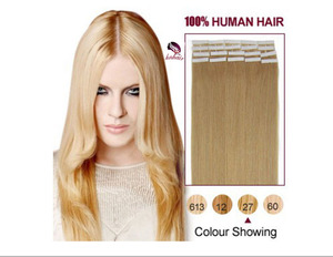 Factory Cheap 100% Human Hair Extension , China Vendors Wholesale Russian Blonde Tape In Human Hair Extensions