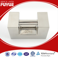 OIML F1 20kg specific weight, stainless steel rectangular weight, calibration weight