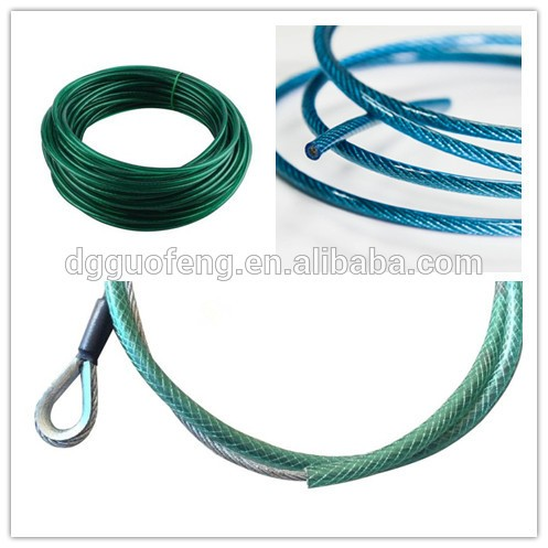 Customized Colorful Aircraft Cable,Plastic Steel Wire Cable With ...