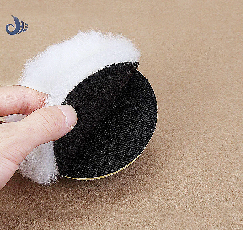Manufacturer wholesale 3m quality 3 inch BLACK-LOOP back car wool polishing pad