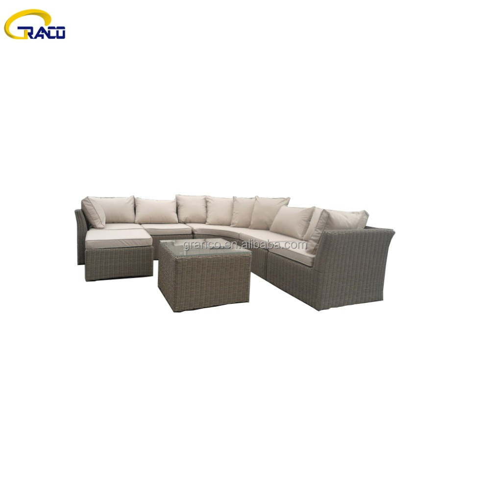 Classic Outdoor Garden Plastic Rattan Garden Furniture Sofa Set