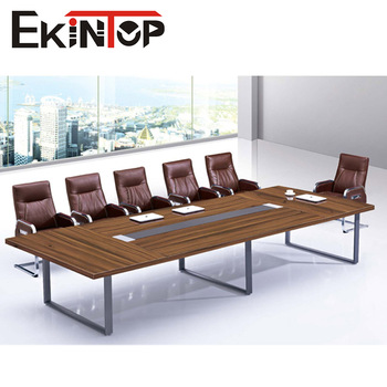 Modern Style Luxury Steel Stainless Frame Conference Table For - 12 seater conference table