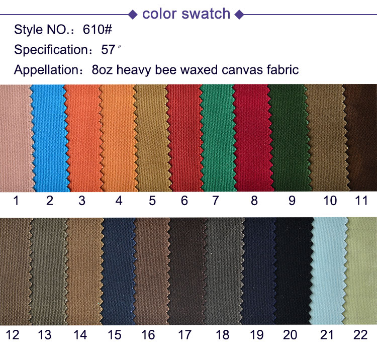 China cotton fabric 100% Cotton Heavy Bee Waxed Canvas Fabric waterproof for canvas shopping bags