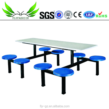 Charmant Restaurant Fiberglass Table And Chair Canteen Table And Chair Dining Hall  Furniture (DT 05