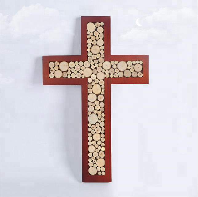Serbian Orthodox Cross Wall Metal Art with Rustic Copper Finish Hanging