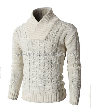 Winter Fancy Design Shawl Neck Cable Knit Mens Heavy Sweater Buy