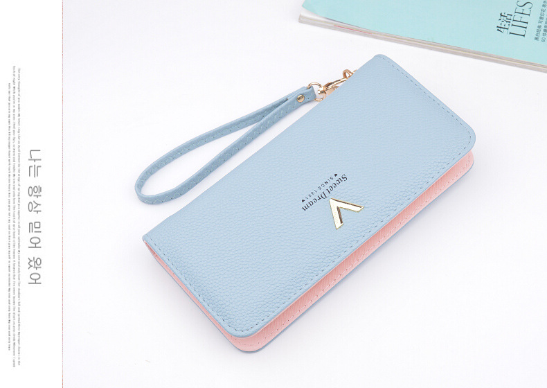2019 Hot sale cheap women's wallet pu Card Wallet for ladies