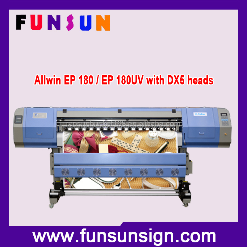 Automatic feeding and collecting structure Allwin inkjet printer with 1.8m printing width