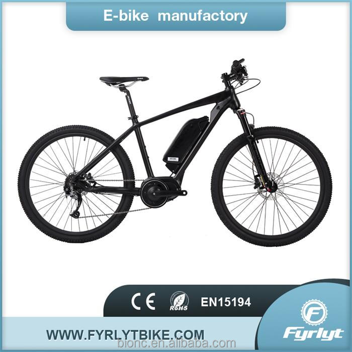 Matte black bafang mid drive motor 250W/350W electric mountain bicycle bike OEM/ODM e bike