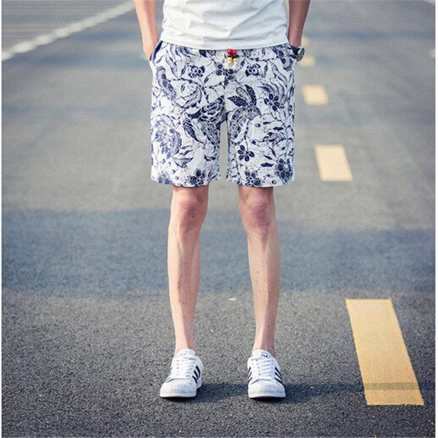 7c4e4a3cca9 10% Мода мужчины печать пляжные шорты настольные короткие шорты homme  быстросохнущие бермуды masculinas де marca 2016 мужчины