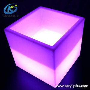 16Colors Flashing Cube Wine Holders LED Colors Changing Ice Bucket
