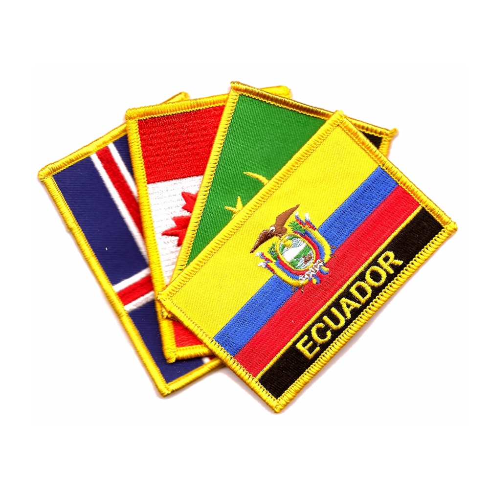 Fornecedores China Custom Bordados Patch, ferro No Remendo Da Bandeira