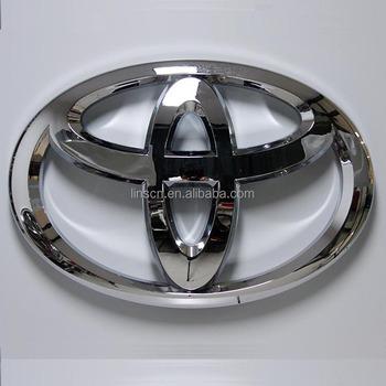 Wholesale 3d Electroplating Chrome Abs Led Backlit Toyota Car Logo