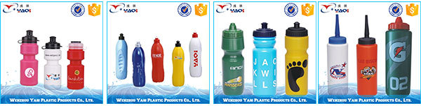 300ml cheap plastic Hip-flask shaped water bottle