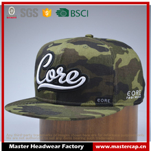 Popular Adults Size 3D Embroidery Camouflage Caps Adjustable Baseball Caps