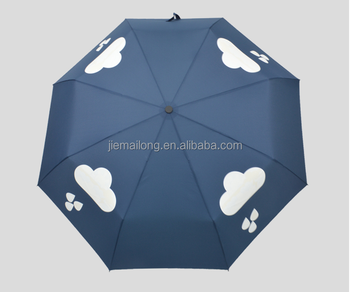 190t Color Changing Pongee Fabric Material And Umbrellas,Umbrella Color  Changing When Wet Type 3 Folding Manual Umbrella - Buy 3 Folds Manual When  Wet