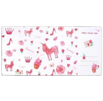 Lovely Nonslip Desk Mat Clear PVC Cover Mouse Pad Writing Pad Decorative Desk Protector Desk Organizer