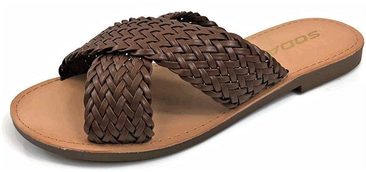 Soda Women's Basic Casual Slip-on Sandals