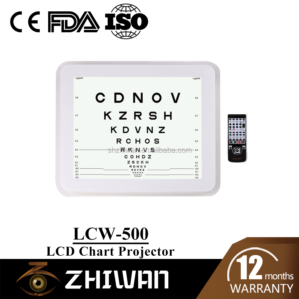 Optical Chart Projector Lcw 500 Digital Snellen Chart Led For Eye