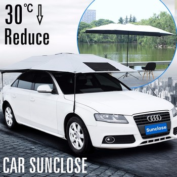 SUNCLOSE Factory car set cover custom windshield visor 25 inch 16 ribs  stick umbrella 62760ae12c9