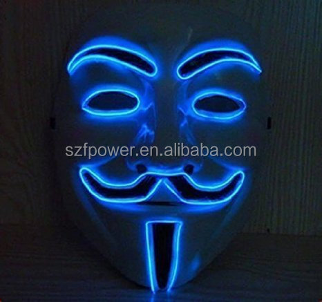 El Wire Light up Clown Mask Halloween