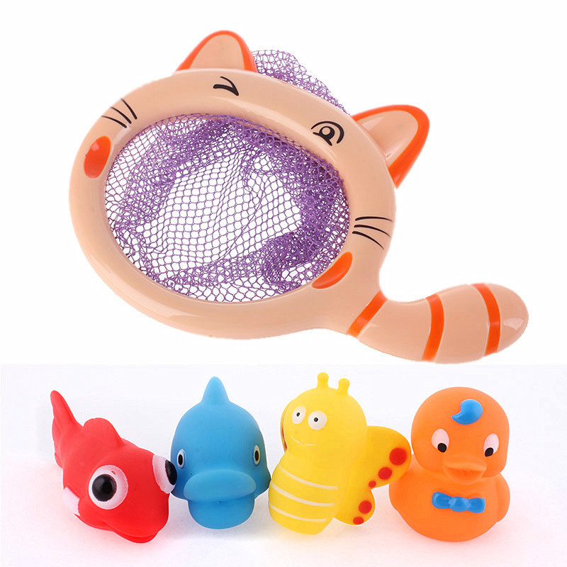 Baby Bath Toys Rubber Duck Fish Animal Spray Toy Gift for Boys Girls Kids Education Parent Child Game