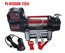 TOP SALE CONTROL 12V/24V FAST SPEED 4*4 WD ELECTRIC WINCH 13500LB