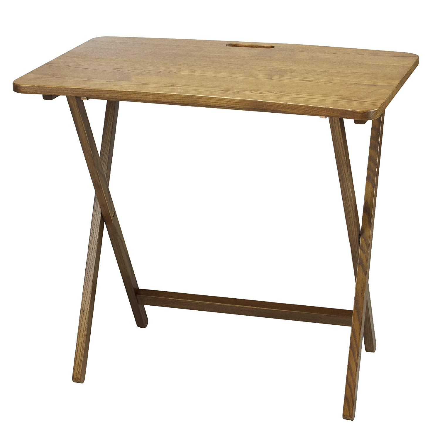 Get Quotations · Goosefoot Red Oak Folding TV Tray Table Table Tv Folding  Tray Bed Serving Breakfast Wood Laptop