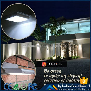 3 models light control/voice control/motion sensor outdoor solar power led sensor lights