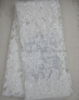J398-1-6 2016 High quality embroidery floral lace fabric/african tulle lace fabric french lace with sequins